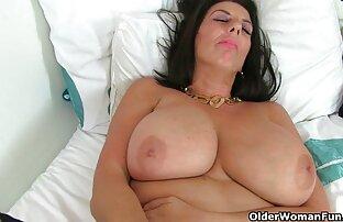 سینه کلان, زن خانه دار لذت می برد یک وسیله ارتعاش فیلم خفن سکسی و نوسان